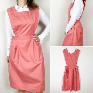 Vintage Fashion Seal Shane pink pinafore dress